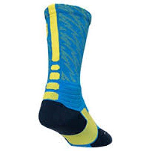 Nike Men's Hyper Elite KD Basketball Crew Socks X-Large (Size 12-15) Blue