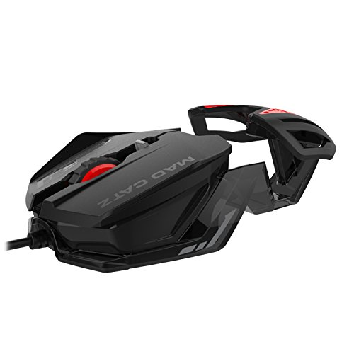 Mad Catz RAT 1 Wired Optical USB LED RGB Mouse with 6 Programmable Buttons, Customizable - Black