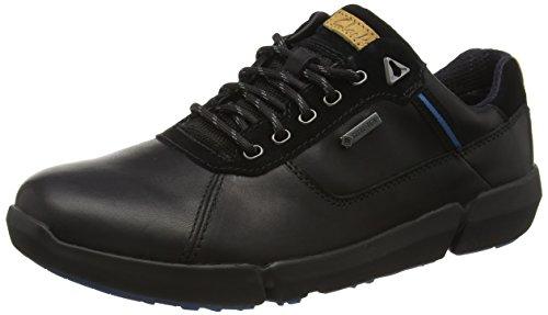 Clarks Triman Lo GTX, Stivaletti Uomo Nero (Black Leather)