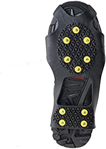 Aliglow Ice Snow Grips Over Shoe//Boot Traction Cleat Spikes Anti Slip Footwear