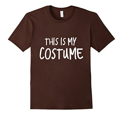 Funniest Easy Halloween Costumes (Mens Lazy cheap ironic easy costume for everyone Medium Brown)