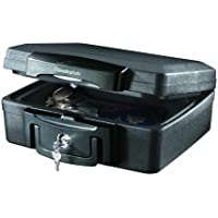 SentrySafe H0100 0.17 Cubic Feet Waterproof Extra Small Fire Safe with Key Lock (Black)