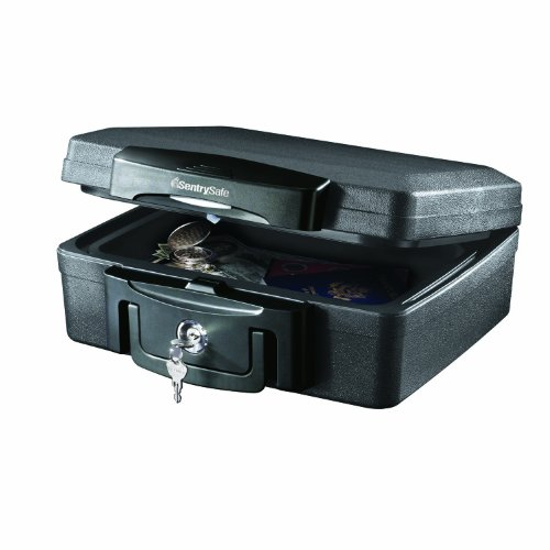 SentrySafe Fire Safe, Waterproof Fire Resistant Chest, .17 Cubic Feet, Extra Small, H0100