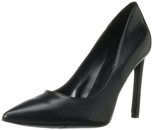 Nine West Women's Tatiana Dress Pump,Black Leather,7.5 M US
