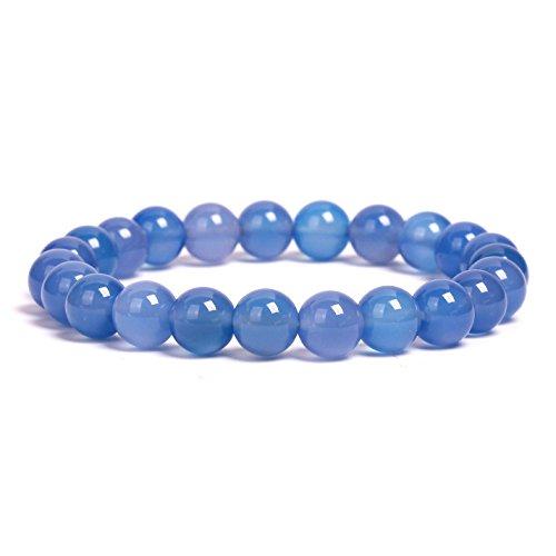- RANGER-Y Handmade Gem Semi Precious Gemstone Bracelets Natural Stones Healing Power Crystal Elastic 8mm Ball Beads Stretch Beaded Bracelet 7
