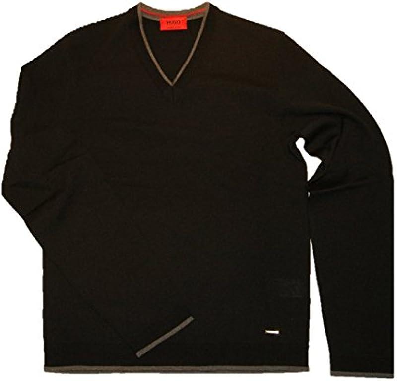 Hugo sweter dziergany sevirian kolorze czarnym 001 gr: S: Odzież