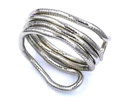 Silver Snake Flex Mesh Bangle Wrap Cuff Arm Band Wrist Bracelet Cleopatra inspired (silver) (Silver Upper Arm Jewelry)