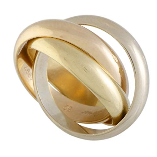 Cartier (Est.) Cartier Trinity de Cartier 18K Yellow White and Rose Gold Rolling Three Band Ring