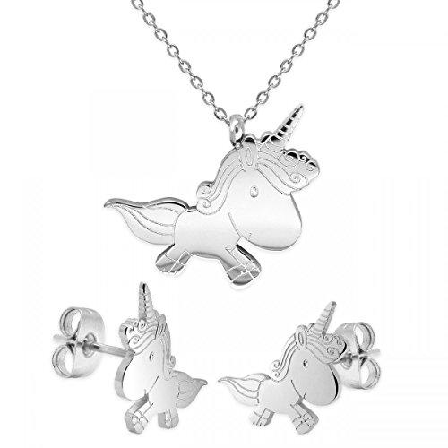 Soul Cats®–Unicornio de cadena con o sin passenden Pendientes