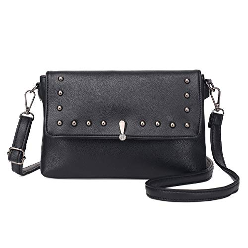 Crossbody Purse Small Women Wristlets Purse Zg Black 2 Leather Shoulder Strap Wallet with Clutch for Vegan RTFgw