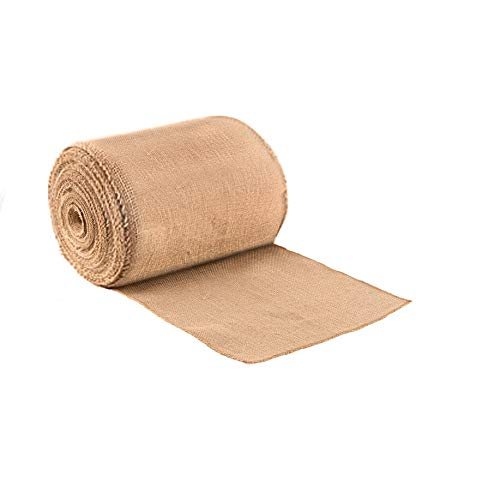 Purple Q Crafts Burlap Table Runner 14 Inches Wide Jute Burlap Fabric Roll No Fray Edges Rustic Table Runner (14
