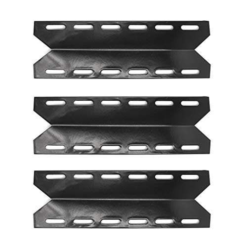 Hongso PPB341 (3-Pack) BBQ Gas Grill Porcelain Steel Heat Plates, Heat Shield, Heat Tent, Burner Cover, Vaporizor Bar, and Flavorizer Bar Replacement for Charmglow, Nexgrill, Perfect Flame(17 5/16