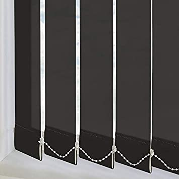 600mm W Swift Direct Blinds Made to Measure Vertical Blind Genesis Black custom made in 14 size ranges individually made to your custom sizes D X 1400mm
