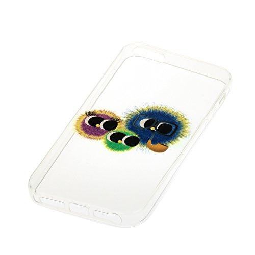 Voguecase® für Apple iPhone SE 5 5S 5G hülle, Schutzhülle / Case / Cover / Hülle / TPU Gel Skin (Monster) + Gratis Universal Eingabestift
