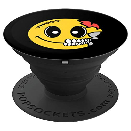 Cute Scary Halloween Smiley Skull Art Costume Emojis Gift - PopSockets Grip and Stand for Phones and -