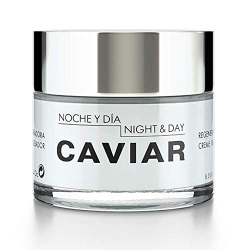 - Noche Y Dia Night & Day Caviar Regenerating Cream for Face, with Sturgeon Caviar, Aloe Barbadensis & Vitamin E, 2.4 fl oz.