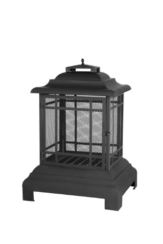 Cheap Fire Sense Rectangle Pagoda Patio Fireplace Black Friday & Cyber Monday 2019