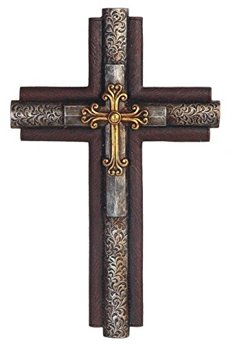 StealStreet SS-G-28284 Decorative Inception Wall Hanging Cross Statue Figurine, 15.5""