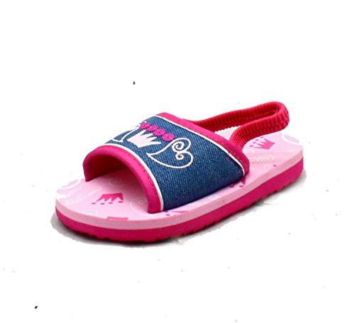Kleine Mädchen -Rosa-Blau Leinenschaumunterbadeschuhe/ Sandalen