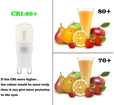 GVOREE Bombilla LED G9 3 W Equivalente a 30 W Blanco Frío 6000K 270 LM AC220-240V 14×2835 SMD LED Lámpara, Ángulo de visión 360°, 10 Unidades: Amazon.es: Iluminación