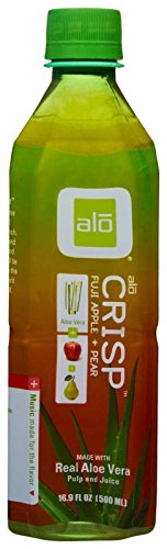 alo Aloe Vera Drink - Crisp - Fuji Apple and Pear - 16.9 oz - 12 Pack
