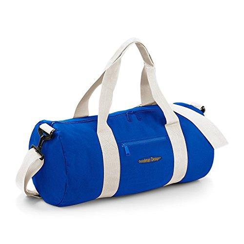 Kleine Reisetasche/Sporttasche/Gepäcktasche: Tasche - Goodman Logo sportliche Reisetasche Farbe: royal-blau iFcYAlV