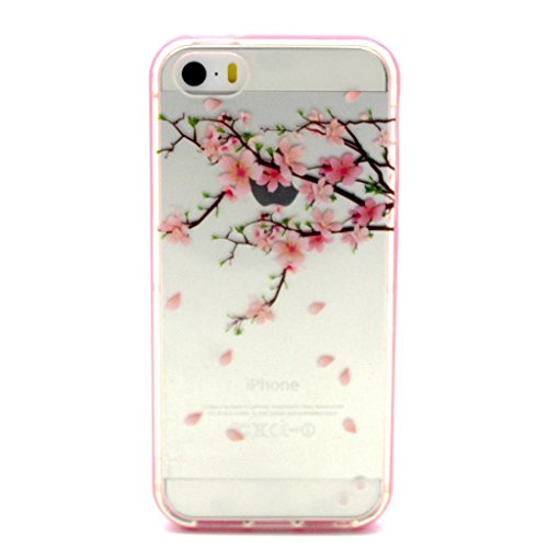 iPhone 5 / 5S / 5G Case Coque , Apple iPhone 5 / 5S / 5G Coque Lifetrut® Slim Design TPU Gel caoutchouc mignon Soft Skin coloré Coque Etui pour Apple iPhone 5 / 5S / 5G [ Fleur ]
