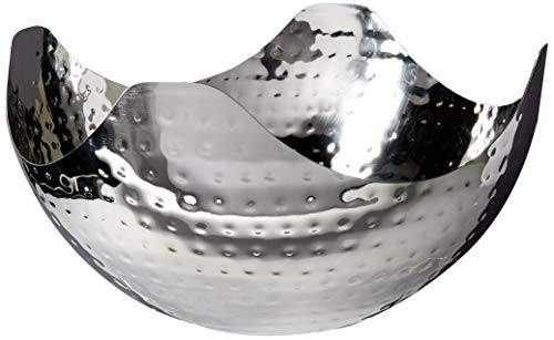 Elegance Hammered 10-Inch Stainless Steel Wave Serving Bowl ()