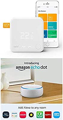 Echo Dot gris + Tado Termostato Inteligente Kit de Inicio V3+ ...