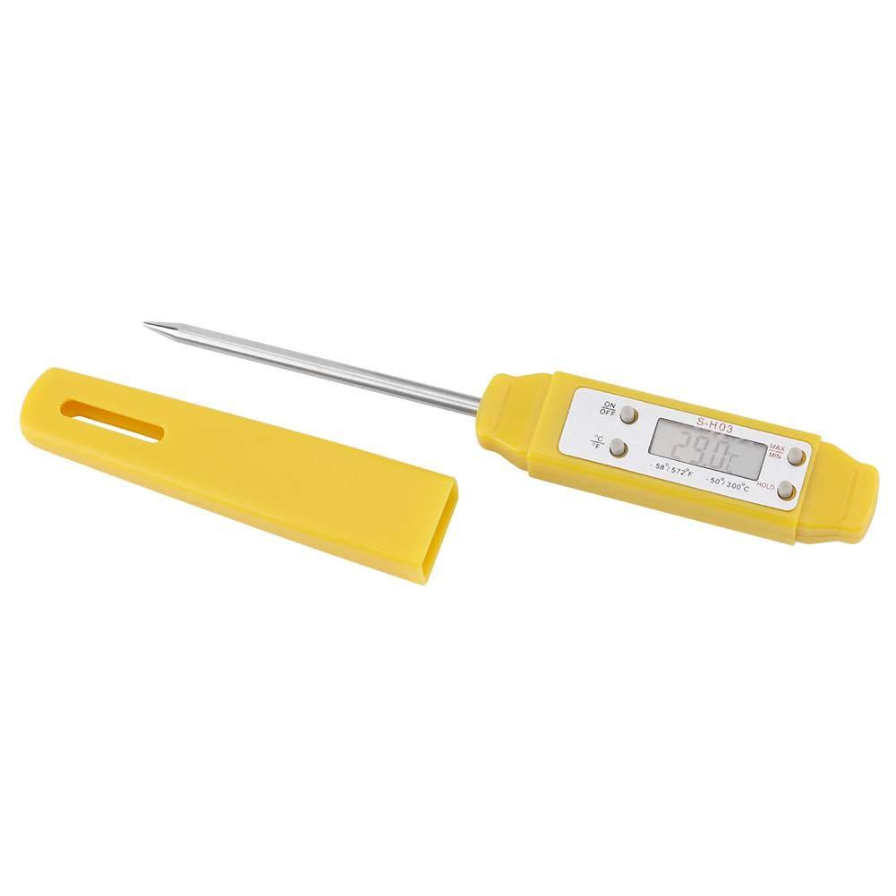Nero Zerone 1Pc Lettura istantanea Termometro digitale per alimenti Cucina Cottura BBQ Sonda per carne