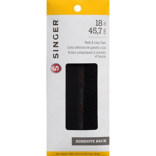 Singer Hook and Loop Adhesive Back Tape, 3/4 x 18-Inch, Black (Needles 18 Size Sewing Machine)