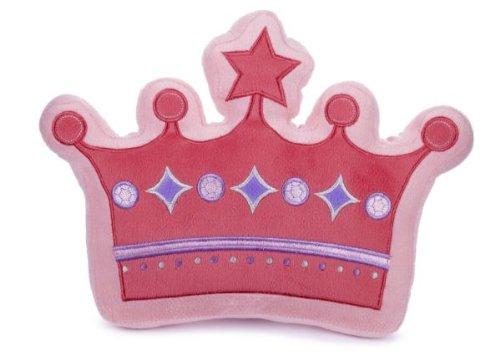 "Ganz 10"" Crown Pillow Plush Toy, Dark Pink Polka Dots"