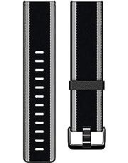 Fitbit Versa/Versa Lite/Versa 2 Fabric Band Black/Grey