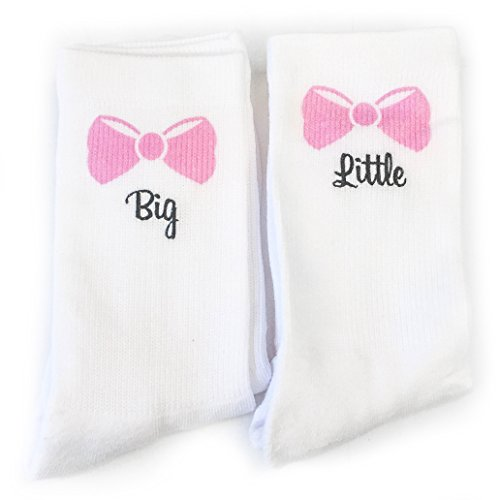 Big & Little Sister Socks Sorority 1/2 Cushion Crew Sock (One Pair) (Puma Socks Women Cushion)