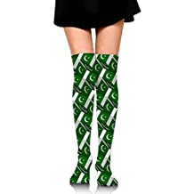 Pakistan Flag 3D Art Pattern Long Socks Knee High Socks Dress Socks For Cosplay Daily Life Party