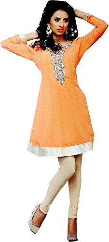 Jayayamala Greate orange plaisait design attrayant avec une belle tunique travailler la pierre