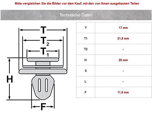 20/Â/x Puerta revestimiento acolchado Clips de montaje