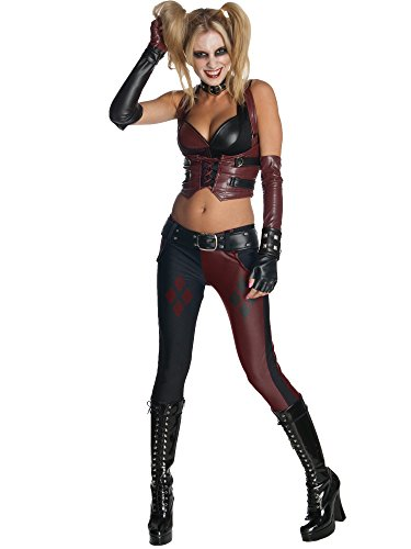 Secret Wishes Batman Arkham City  Adult Harley Quinn Costume, Multi-Colored, Large ()