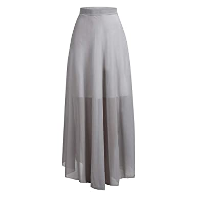 Theshy Falda Gasa Color Liso para Mujer Falda Casual Elegante para ...