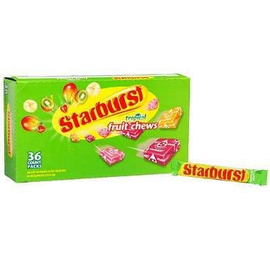 Starburst Tropical Fruit Chews 2.07 oz, 36 ct. A1