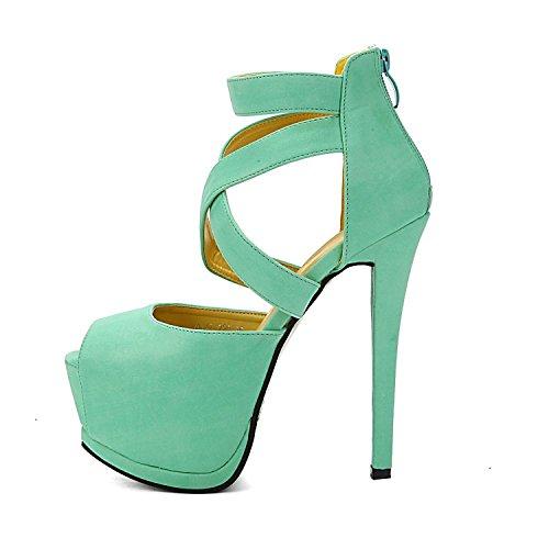 Chaussons Shoes Parti Vert Club Minetom Strappy Disco Femmes Mariage De Evening Sandales Escarpins De RY7YTtgn