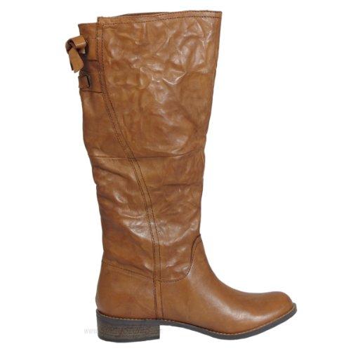 SPM Chaussures Bottes Niagara automne femmes de haute Bottes-Marron