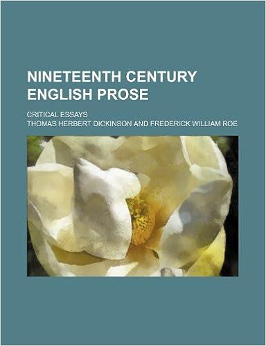 Nineteenth Century English Prose: Critical Essays