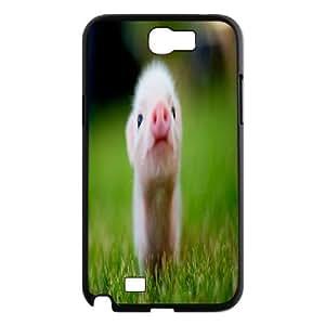 Custom Cute Piggy Cell Phone Case, Custom Durable Cover Case for Samsung Galaxy Note 2 N7100 Cute Piggy