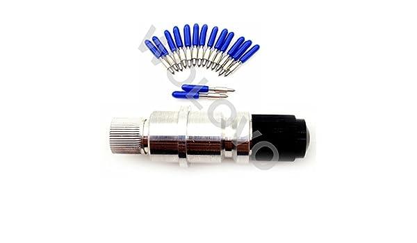 15pcs/set 60 Grado Graphtec CB15U CB15 cuchillas cortador de vinilo Plotter + Blade Holder vivienda: Amazon.es: Bricolaje y herramientas