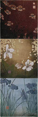 Aura by Don Li-Leger | Woven Tapestry Wall Art Hanging | Asian Fusion Contemporary Floral Panels | 100% Cotton USA Size ()