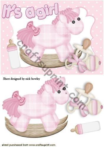 Rosa de caballo y con bebé chupete por Nick Bowley: Amazon ...