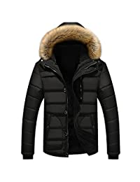 Newbestyle Mens Winter Quilted Down Cotton Padded Puffer Jackets Parka Coats