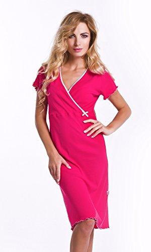 allattamento camicia Camicia cotone cielo grigio Rosa 100 colore notte blu per maternità e laterale colore da per q1X8xwr7XH