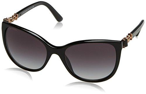 Bvlgari 8145B 501/8G Black 8145B Cats Eyes Sunglasses Lens Category 3 Lens - Bvlgari Glasses Designer